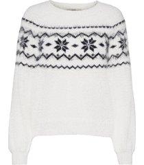 sweaters stickad tröja vit edc by esprit