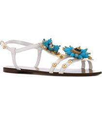 capri flower embellished sandals
