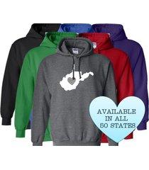 west virginia hoodie sweatshirt love home heart unisex men women state