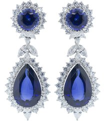 cubic zirconia marquise drop earrings