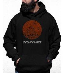 men's occupy mars word art hooded sweatshirt