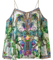 camilla moon garden drop shoulder blouse - multicolour