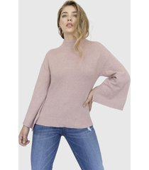 sweater manga campana eleanor rosado racaventura