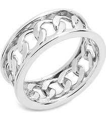 sterling forever women's sterling silver curb chain band ring/size 7 - size 7