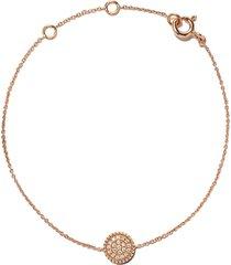 as29 18kt rose gold mye round beading pave diamond bracelet