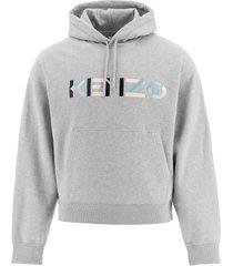 kenzo sweatshirt with multicolor logo embroidery
