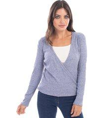 sweater azul mia loreto hirts