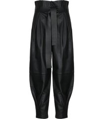 red valentino leather ballon trousers