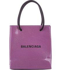 balenciaga north south shopping handbag pink, black sz: s