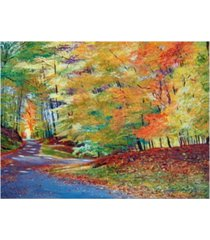"david lloyd glover walking in autumn canvas art - 37"" x 49"""