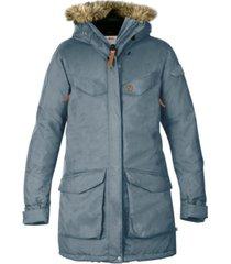 fjallraven nuuk faux-fur-trim hooded parka coat