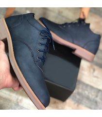 zapato oxford casual - azul marino