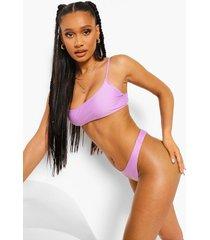 essentials korte bikini top met spaghetti bandjes, bright lilac