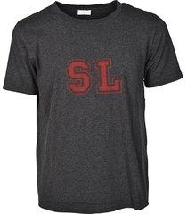 saint laurent chest print t-shirt