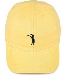 boné aleatory strapback bordado amarelo