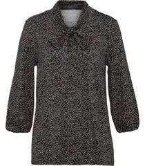 bellissima maglia con fiocco e maniche a 3/4 (nero) - bodyflirt