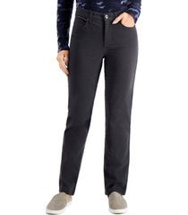 style & co high-rise natural straight-leg jeans, created for macy's