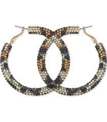 """guess medium multicolor crystal hoop earrings, 2"""""""
