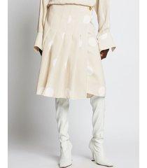 proenza schouler broken dot skirt 22089 ecru/white dot/brown 6
