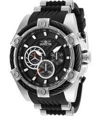 reloj invicta acero negro modelo 255ac para hombres, colección bolt