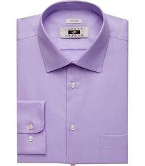 joseph abboud men's lavender twill modern fit dress shirt - size: 15 32/33