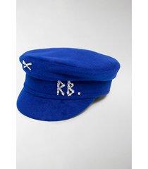 ruslan baginskiy swarovski embellished baker boy cap