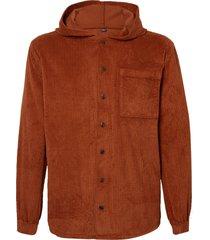 camisa john john chile veludo marrom masculina (marrom medio, gg)