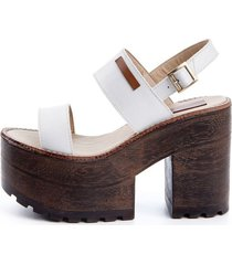 sandalia  blanca rosevelt shoes
