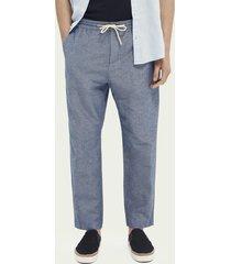 scotch & soda fave linen & organic cotton-blend beach trousers
