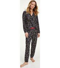 tommy hilfiger women's star print pajama set desert sky star print - xs