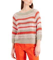 weekend max mara ghiacci flax linen sweater