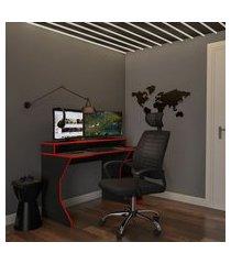 cadeira de escritório diretor giratória logic preta
