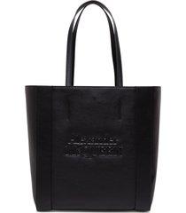 alexander mcqueen signature shopper in black leather