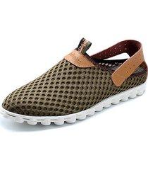 sneakers slip-on in mesh traspirante