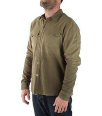 camisa hombre leñador verde militar s haka honu