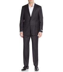 milburn regular-fit solid wool suit