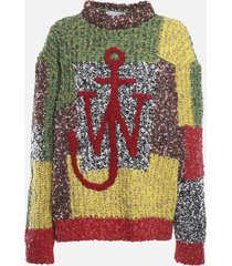j.w. anderson patchwork sweater in wool blend