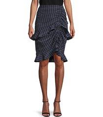 windowpane peplum skirt