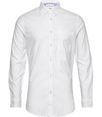 chambray slim stretch skjorta casual vit calvin klein jeans