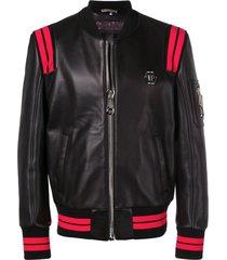 philipp plein statement jacket - black