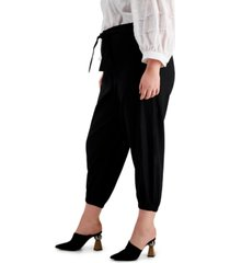 calvin klein plus size tie-waist pants
