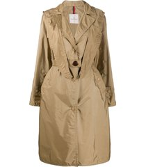 moncler trench coat com capuz - neutro