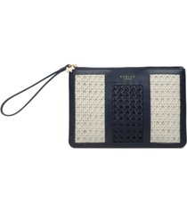 radley london ascot weave medium ziptop wristlet