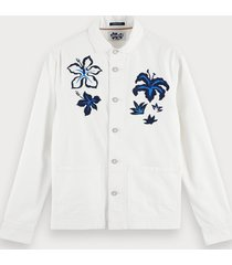 scotch & soda embroidered worker jacket