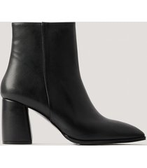 na-kd shoes boots med blockklack basic - black