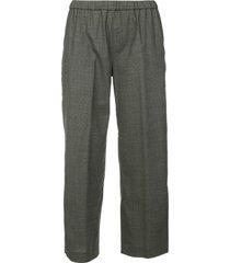 aspesi elastic waist trousers