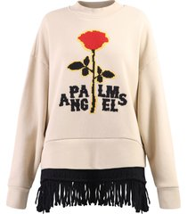 palm angels branded sweater