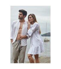 pijama masculino l'acqua linho longo g muguet home