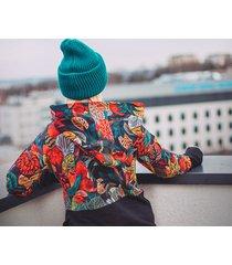 oversize bluza, patchwork, tajemniczy ogród