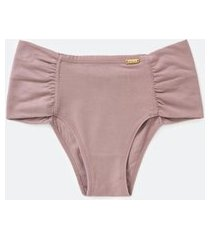 calcinha lateral dupla confort curve & plus size bege